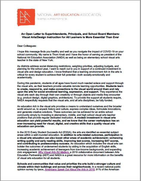 NEAE Letter to School Leaders